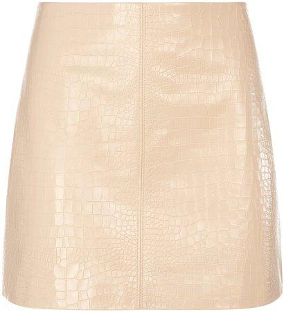 Riley Croc Leather Mini Skirt