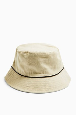 Piped Bucket Hat In Sand | Topshop