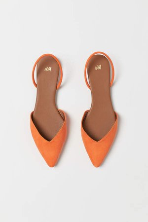 Pointed Slingbacks - Orange