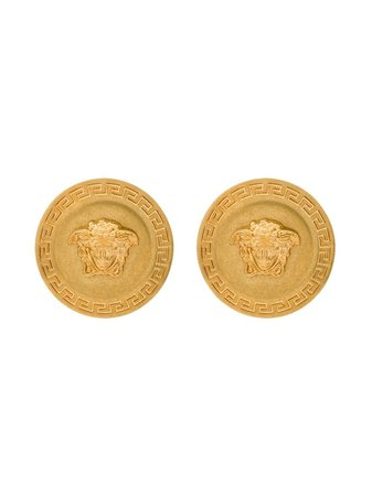Shop Versace Tribute Medusa Stud Earrings with Express Delivery - FARFETCH