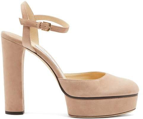 Maple 125 Suede Platform Pumps - Womens - Nude
