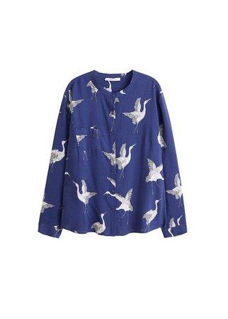 Violeta BY MANGO Mao collar blouse
