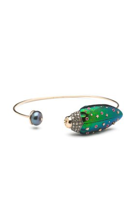 Bibi van der Velden Scarab and Pearl Bangle