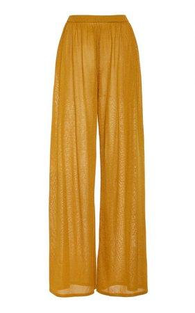 Metallic Jersey Wide-Leg Pants by Sally LaPointe | Moda Operandi
