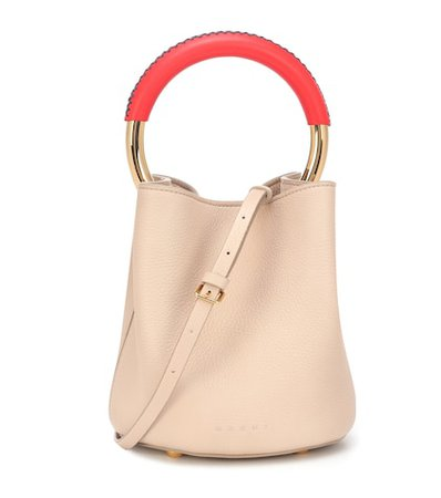 Pannier Small leather tote