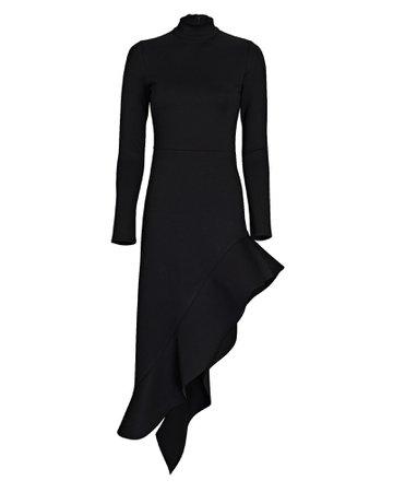 Alexis Taleah Asymmetric Ruffled Midi Dress | INTERMIX®