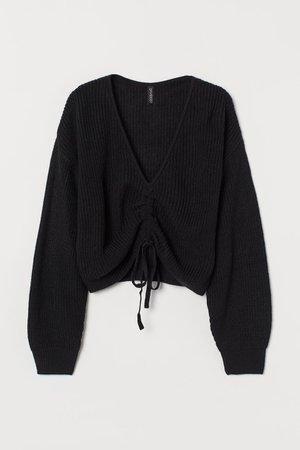 Knitted jumper - Black - Ladies | H&M GB