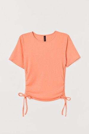 Ribbed Top - Apricot - Ladies | H&M US