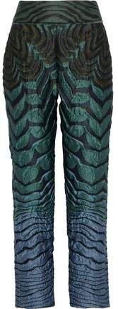 Brocade Straight-leg Pants