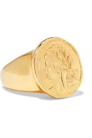 Oscar de la Renta | Gold-plated ring | NET-A-PORTER.COM