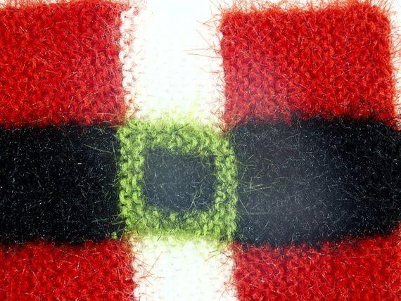 Christmas decor Santa belt washcloth for bath or pot holder | Etsy