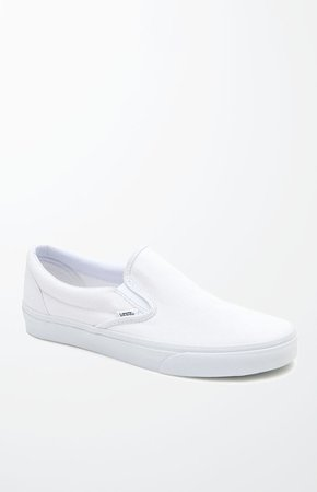 Vans Classic Slip-On White Shoes | PacSun