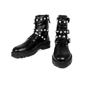 Pearl Black Ankle Boots