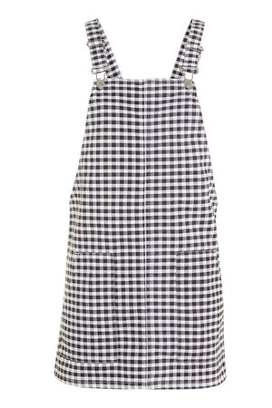 MOTO Gingham Pinafore Dress