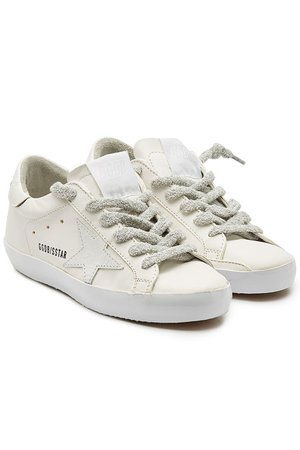 Golden Goose - Super Star Leather Sneakers - white