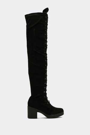 Lace Up Over the Knee Boots | Nasty Gal