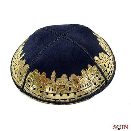 Kipa-DONE-Suede-Navy-and-Gold-Jerusalem-GOOD-Picture.jpg (500×500)
