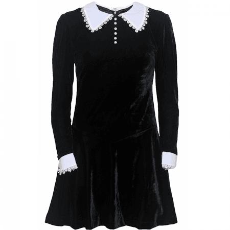 Pop Boutique Velvet Wednesday Addams Dress