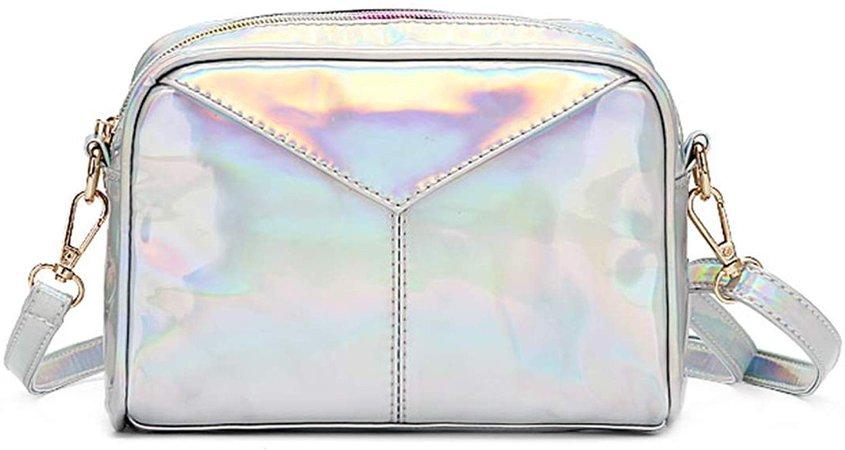Gabrine Womens Hologram Holographic Evening Bag Shoulder Bag Crossbody Bag Handbag Clutch Purse: Handbags: Amazon.com