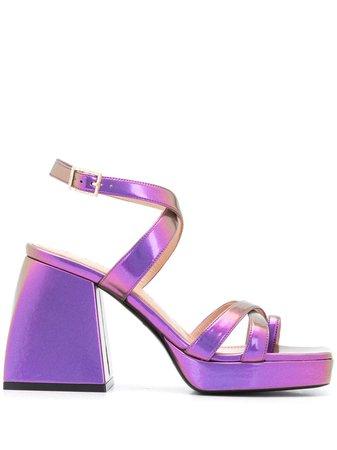Nodaleto Metallic Bulla Siler 85mm Sandals - Farfetch