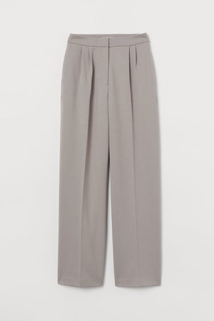 Wide-cut Pants - Brown