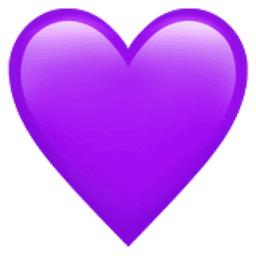 Purple Heart Emoji (U+1F49C)