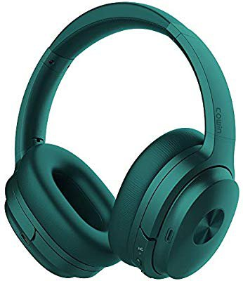 Amazon.com: COWIN SE7 Active Noise Cancelling Headphones Bluetooth Headphones Wireless Headphones Over Ear with Microphone/Aptx, Comfortable Protein Earpads, 50 Hours Playtime for Travel/Work, Dark Green: Home Audio & Theater