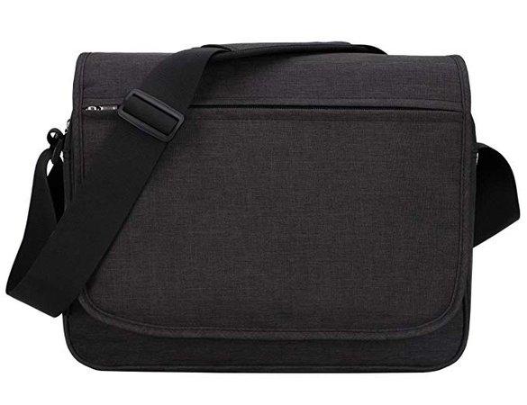 """Amazon.com   MIER Unisex Laptop Messenger Bag for 15.6"""" Computer Shoulder Crossbody Bag for Work and School, Multiple Pocket, Update Black   Messenger Bags"""