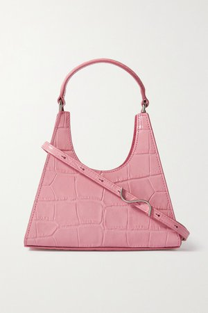 Rey Mini Croc-effect Leather Tote - Pink