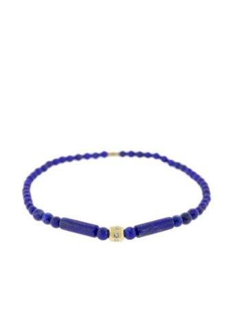 Blue & gold Luis Morais 18kt yellow gold, diamond and lapis lazuli beaded bracelet 1HXTT220YBLAPIS - Farfetch