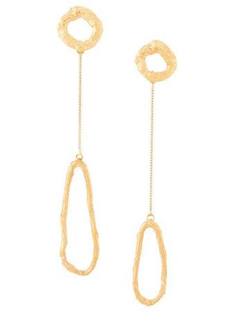 Forte Forte Asymmetric Pendant Sculpture Earrings 7154MYJEWEL Gold   Farfetch