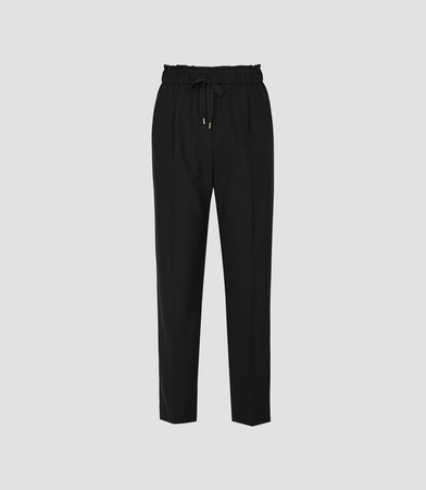 Perry Black Formal Joggers – REISS