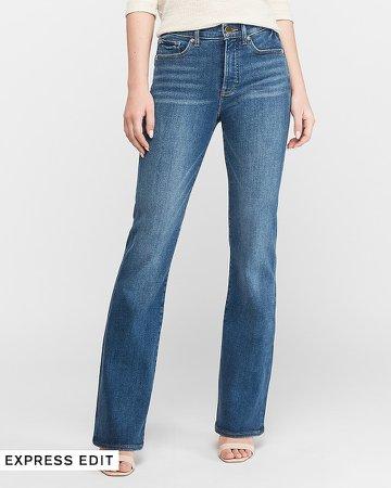High Waisted Dark Wash Bootcut Jeans
