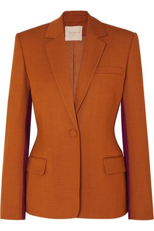 Roksanda | Loa two-tone twill blazer | NET-A-PORTER.COM