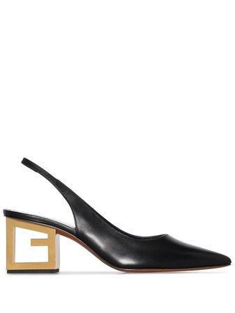 Shop black Givenchy triangle point slingback pumps with Express Delivery - Farfetch