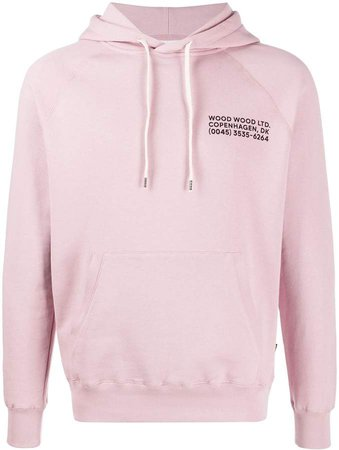 Fred logo print hoodie