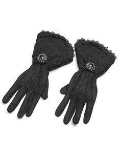 Black Victorian Gloves