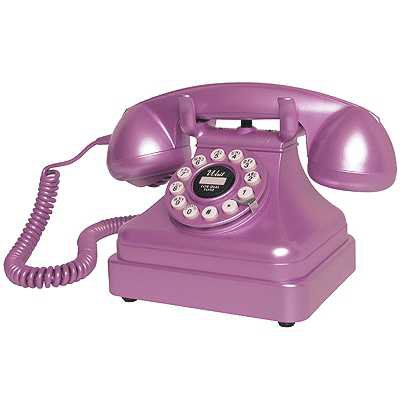 Purple Retro Telephone