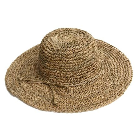 Wide Brim Straw Hat | Justine Hats | Wolf & Badger