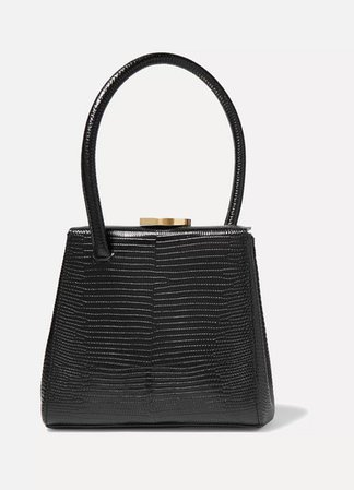 Little Liffner   Mademoiselle small lizard-effect leather tote   NET-A-PORTER.COM
