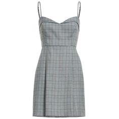 Gray plaid dress