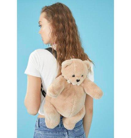 Delia's Teddy Bear Plush Mini Backpack - Brown | Dolls Kill