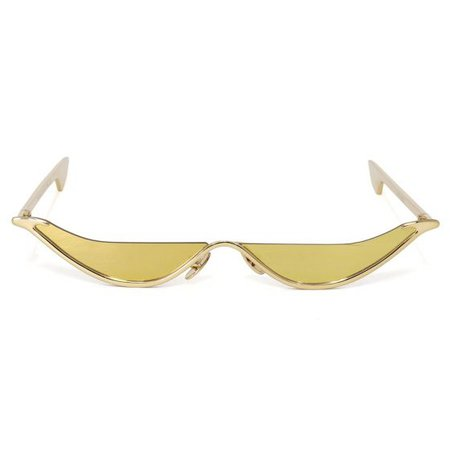 CHRISHABANA THE SLANT SUNGLASSES / GOLD (GOLD)