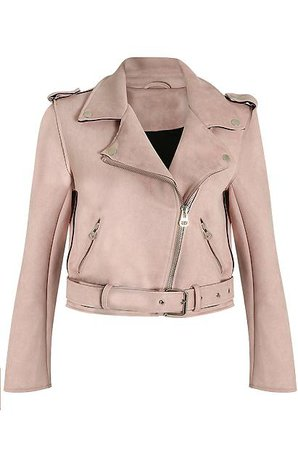 Pink Suede Biker Jacket JYY London