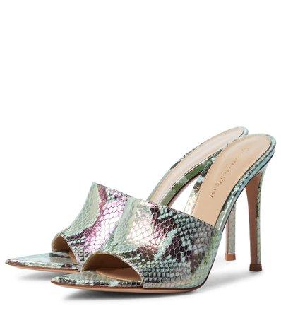 Gianvito Rossi - Alise 105 snake-effect leather sandals   Mytheresa