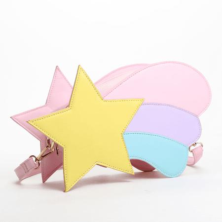 Rainbow Crossbody Bag Pastel Shooting Star