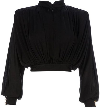 Balmain cropped loose fit blouse