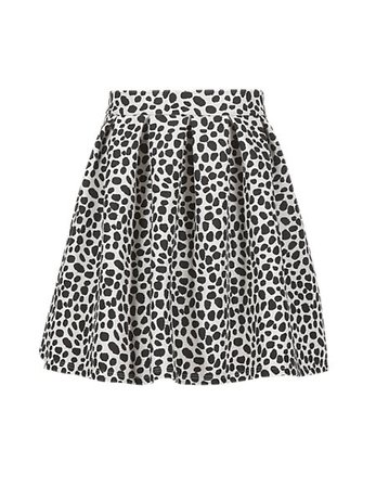 Dalmatian Print Skater Skirt