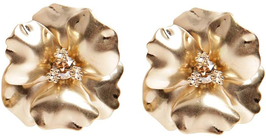 Amazon.com: [E6471] Cherry Blossom Stud Earrings, Gold-Plated, Posts Closure - Premium Quality, Lightweight and Comfortable to Wear All Day: Clothing