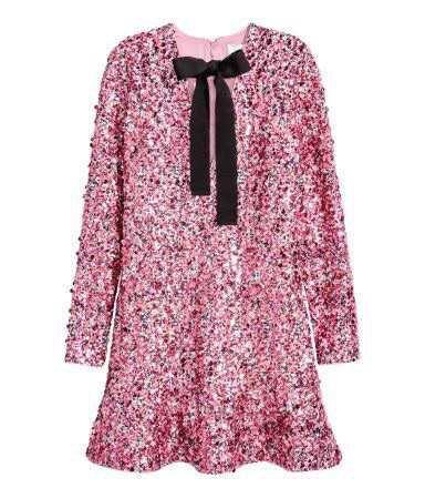 H&M Sequin Pink Dress